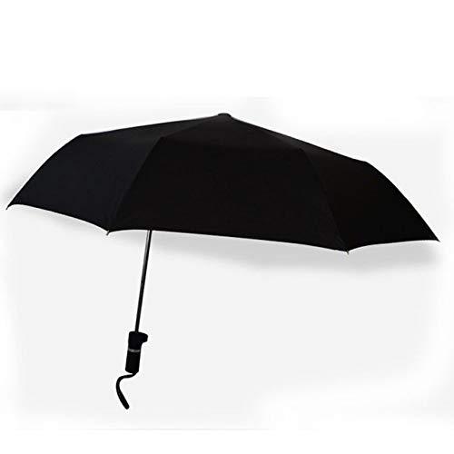 NJSDDB paraplu kwaliteit teccentrische paraplu anti-uv zon bescherming paraplu voor mannelijke vrouwelijke fiets Paraplu 3 Vouwen Outdoor paraguas, Zwart