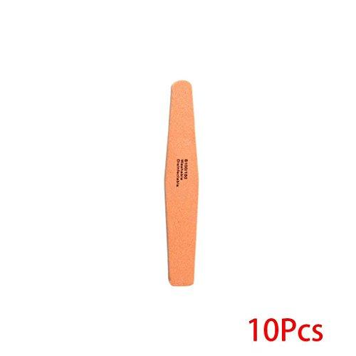 Bobury 10 PCS Sunshine Double Face Poli éponge Limes à Ongles Papier abrasif Lavable manucure Outils Nail Art Outils