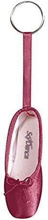 Schlüsselanhänger in Form eines Ballettschuhes Weinrot - Ballett Geschenkartikel