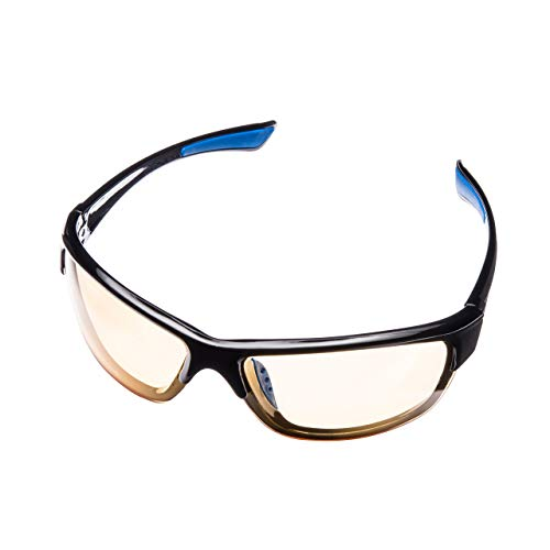 Lumin Night Driving Glasses Vector - Improve Road Safety with Outdoor Night Vision Lenses - U.V.A. and U.V.B. Protection - Improve Contrast and Reduce Glare - Unisex