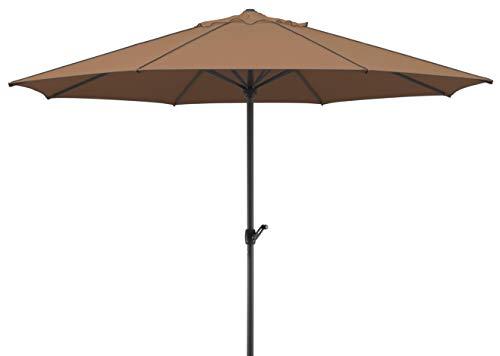 Schneider Schirme 685–69Schneider Paraguas Adria ca. 350cm Ø, 8Piezas, Redondo, marrón, 350x 350x 275cm