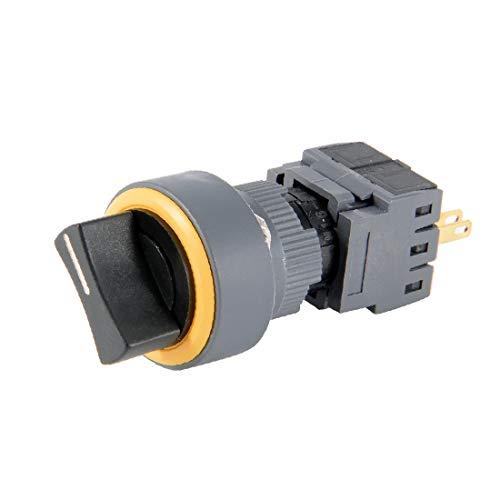 X-DREE AC 250V 5A DPDT 4P 2NO + 2NC 1/0/2 Interruptor selector rotativo superior redondo de 3 posiciones (AC 250V 5A 4PDT 8P 2N + 2NC 1/0/23 Position Ronde tête sélecteur rotatif
