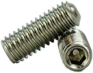 QUANTITY: 100 Length: 3//8 Finish: plain #10-32x3//8 BRASS CUP POINT SOCKET SET SCREW Fine Thread | Material: Brass | Size: #10-32 INCH