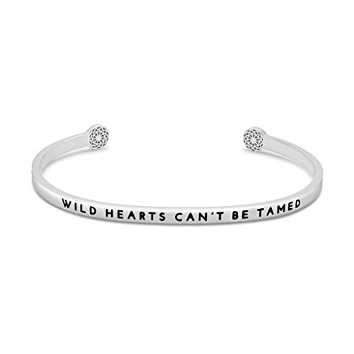 Simple Pledge - Wild Hearts Can't be Tamed - Armreif in Silber mit Gravur für Damen