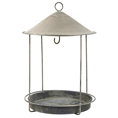 IB Laursen - Vogelhaus, Vogelfutterhaus - Metall - Grau - Zink - für Meisenknödel und Vogelfutter - (ØxH): 19 x 29 cm