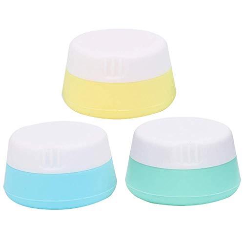 Boîte de distribution rechargeable en silicone, contenants de crème étanche for voyage, contenants de cosmétiques avec couvercles scellés Étui de toilette pouvant être pressé for shampooing, lotion, c