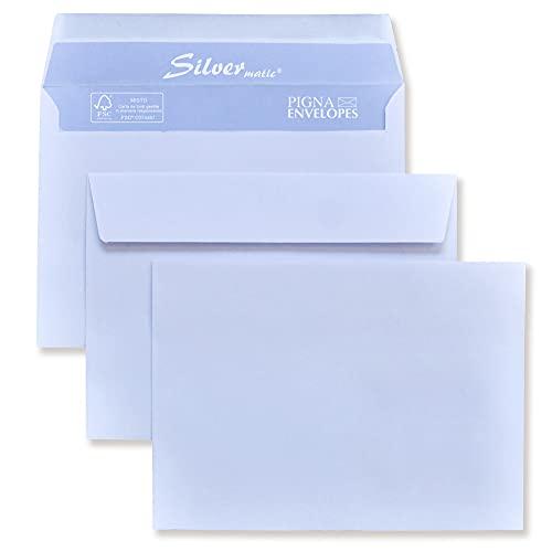 500 Buste SILVERMATIC - Commerciale Gommata F.to 120x180 in carta uso mano FSC 80 gr. - Pigna Envelopes