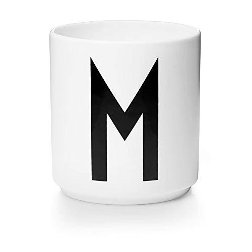 Design Letters Personal Porcelain cups A-Z (WHITE) - M