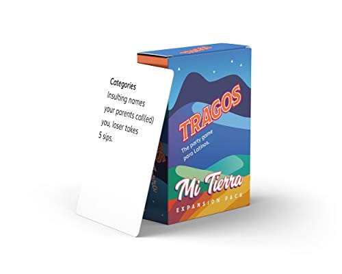 Tragos Party Game for Latinos  Relatable Funny Drinking Card Game for Adults  Juegos De Mesa Para Adultos Expansion Pack