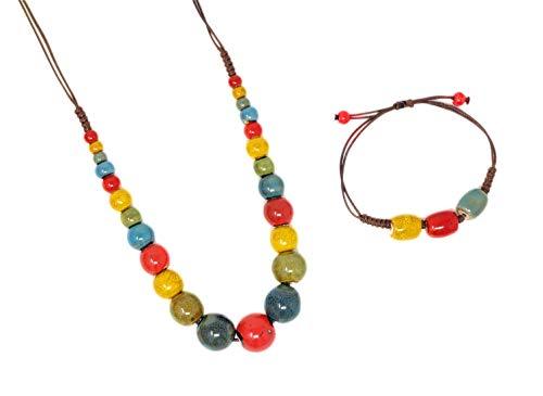 GOS Best Supplies - Collana in ceramica multicolore + bracciale | donna