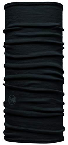 Buff Solid Tour de Cou Laine mérinos Lightweight Jr Mixte Enfant, Noir, FR Unique Fabricant : Taille One sizeque