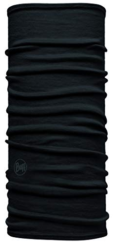 Buff Kinder Multifunktionstuch Junior Merino, Solid Black, one size