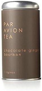 Par Avion Tea Chocolate Ginger Bourbon - Black Tea Blend With Dark Chocolate and Hand-Ground Cinnamon - Small Batch Loose Leaf Tea in Artisan Tin - 4 oz