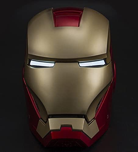 MK7 Iron Man Casco Máscara, Marvel Avengers Plástico Máscaras Faciales Máscaras Cascos Película de Halloween Cosplay Accesorios de Disfraces