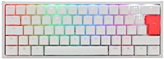 Ducky Ett 2 Mini RGB mekaniskt tangentbord i vitt med Cherry MX Blue Switches, brittisk layout