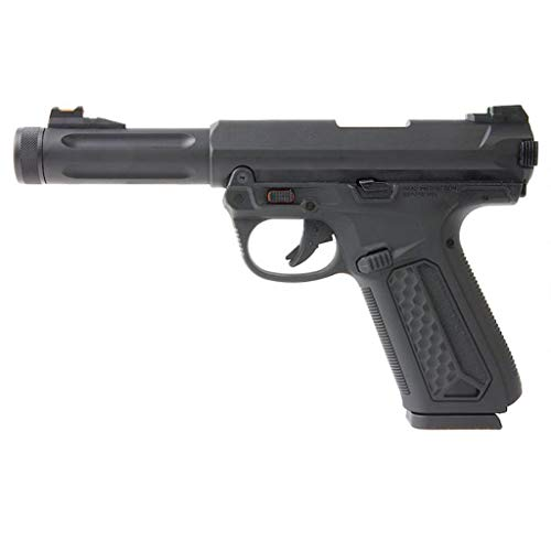 Action Army Airsoft - AAP-01 Assassin Black Gas Pistol -Semiautomático/Full Auto. Culata de Metal blowback- Potencia 0.5 Joule