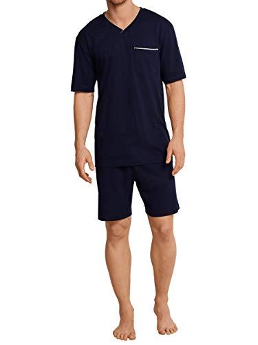 Seidensticker Herren Anzug-Kurzz Zweiteiliger Schlafanzug, Blau (Nachtblau), 4X-Large (Herstellergröße: 060)