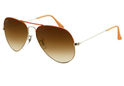 Ray-Ban Aviator Large Metal Sonnenbrille für Herren, RB 3025 AVIATOR, Silber, RB 3025 AVIATOR 58 mm