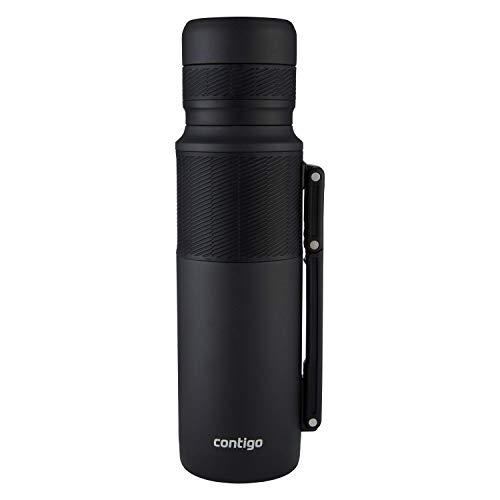 Contigo Thermoflasche Thermalock, Edelstahl Isolierbecher, Kaffebecher to go, auslaufsicher, spülmaschinenfester Deckel BPA-frei, mit Griff, 1200ml