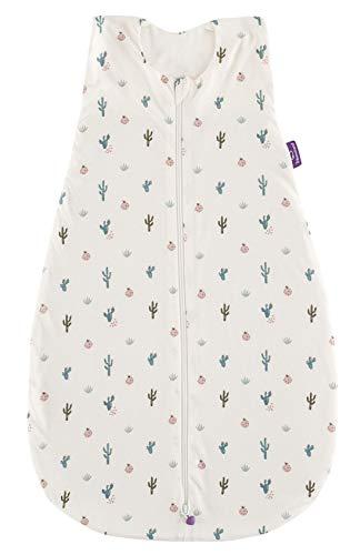 Träumeland S0200602 Sommerschlafsack LIEBMICH aus Baumwolle, Design Kaktusliebe, Größe 60 cm, mehrfarbig
