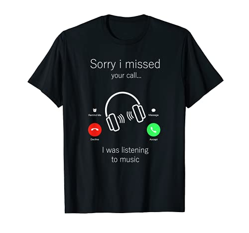 Amantes de la música Musical Rock DJ Músicos Cool Auriculares Camiseta