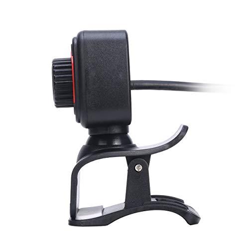 AnamSafdarButt59 HD 480P Clip USB-Kamera Webcam-Mikrofon Breitbild-USB-Computerkamera Dynamische Auflösung für Desktop-Videoanrufe