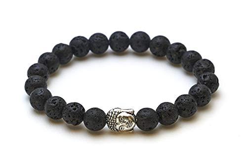Buddha Armband mit Lavastein Perlen – Yoga Armband – BERGERLIN Feel Goods