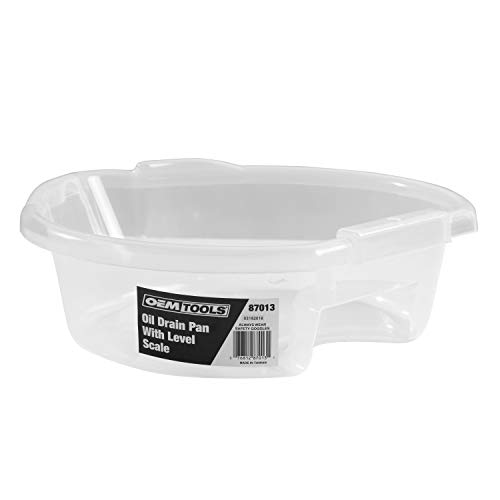 OEMTOOLS 87013 Oil Drain Pan Clear with Level Scale