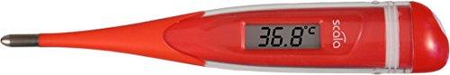 Scala Fieberthermometer digital SC 28 FLEX, 100% wasserdicht, Expressmessung, flexible Messspitze, rot