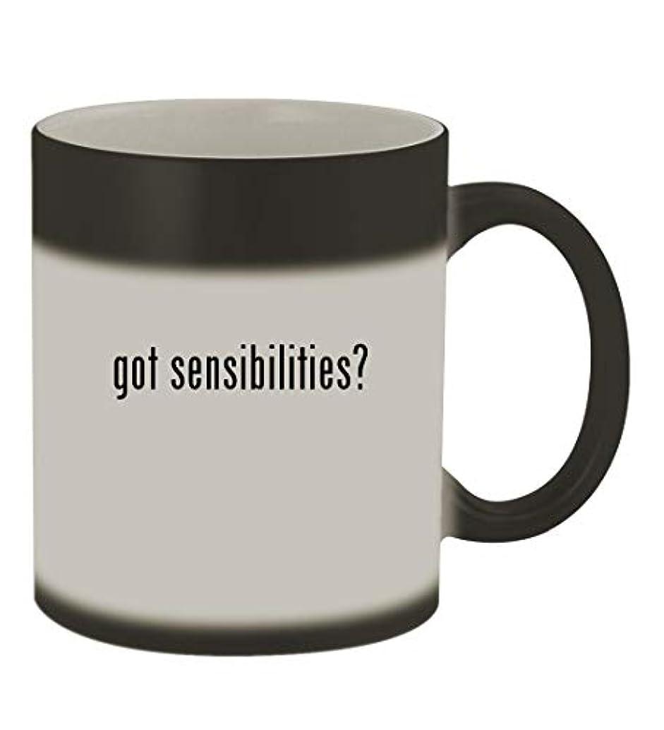 got sensibilities? - 11oz Color Changing Sturdy Ceramic Coffee Cup Mug, Matte Black