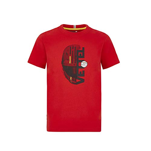 Scuderia Ferrari Offizielle Formel 1 Merchandise 2020 - Sebastian Vettel T-Shirt Kinder - Rot - Baumwolle - 164