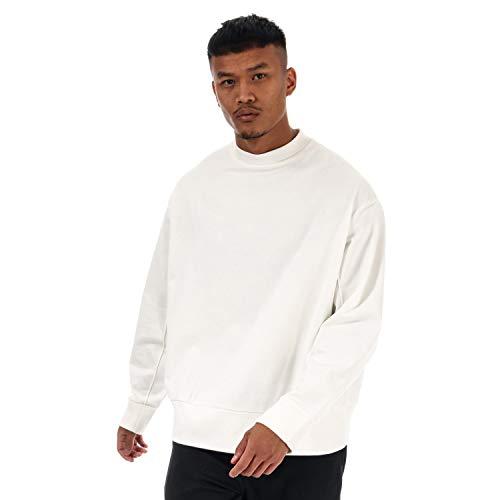 Mens Y-3 Back Script Sweatshirt in White