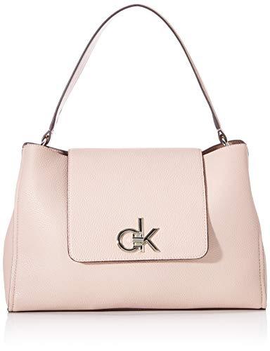 Calvin Klein Re-lock Top Handle Satchel - Borse a tracolla Donna, Rosa (Nude), 1x1x1 cm (W x H L)