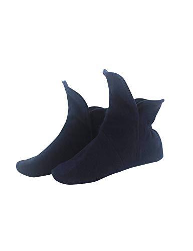 RAIKOU Hausschuhe für Damen, Herren aus Micro Fleece mit ABS und Rutschfester Sohle Größe,Super Flauschige Hüttenschuche (37-40,Nachtblau)