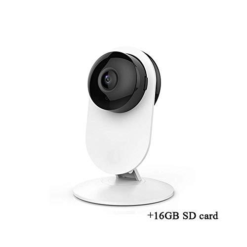Cámara de Red inalámbrica, cámara de Red WiFi 1080P FHD, cámara de vigilancia de visión Nocturna, detección de Movimiento, Audio bidireccional, cámara de Interior, Monitor doméstico ( Size : 16GB )