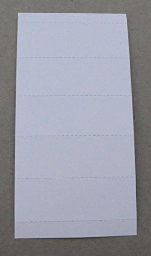 Original Falken 100er Pack Beschriftungsschildchen. Made in Germany. Für Voll-Sichtreiter für alle Original Falken Hängemappe Hängehefter Hängetaschen Hängeregistratur