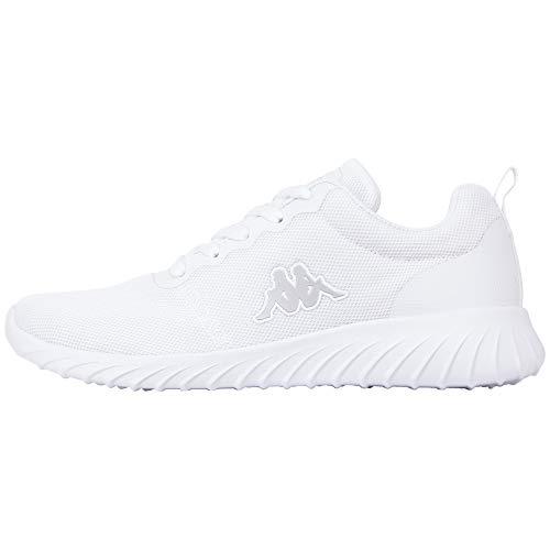 Kappa Unisex-Erwachsene CES Sneaker, Weiß (White 1010), 43 EU