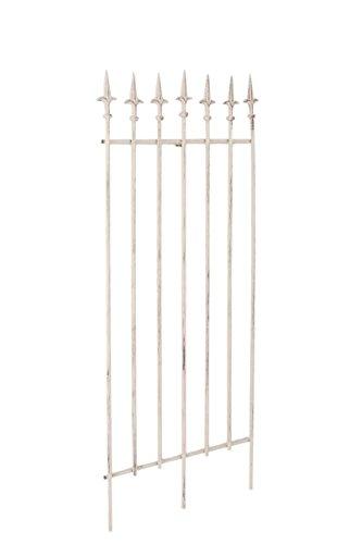 CLP Metall-Rankgitter Elisa I Größe: 100 x 50 cm, Stabstärke 0,7 cm I Rankhilfe für Kletterpflanzen I erhältlich, Farbe:antik-Creme