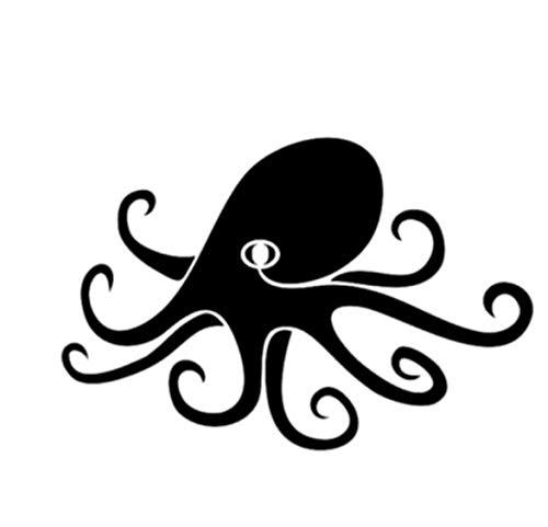 Ziruixiong Kleiner Tintenfisch Octopus Home Switch Aufkleber 8 * 12Cm