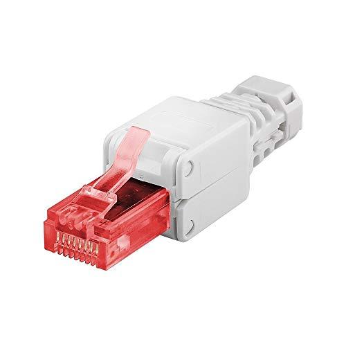 goobay 44738 CAT6 UTP RJ45 Netzwerk-Stecker werkzeugfreie Montage weiß