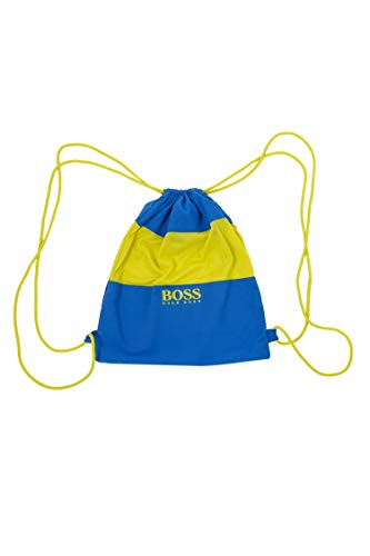 BOSS Herren Strand-Set aus Handtuch, Rucksack und Badeshorts Blau L