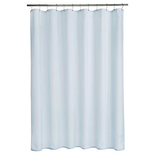 AmazonBasics – Polyester-Duschvorhang Leinwandbindung, Himmelblau, 183 x 200 cm