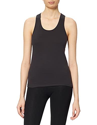 Marca Amazon - find. Camiseta sin Mangas Mujer, Negro (Black), 36, Label: XS