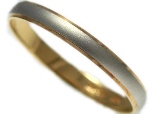 [京都ジュエリー工房] 結婚指輪 マリッジリング プラチナ ゴールド コンビリング PT900 18金 ペアリング 鍛造 甲丸 レディース メンズ 「ヨーク」 P801 11号