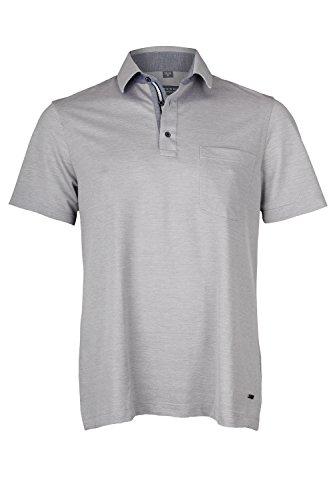 eterna Herren Polo Shirt Kurzarm Comfort Fit Poloshirt Piqué 2203/32/U54K Grau XXXXL/50