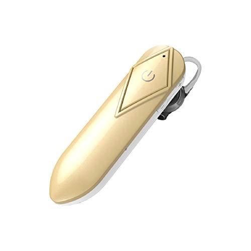 AchidistviQ Auriculares Bluetooth, Auriculares Inalámbricos Bluetooth 5.0 Manos Libres con Micrófono De Reducción De Ruido Incorporado para Conducir/Negocios/Fitness/Oficina Llamadas Claras Dorado