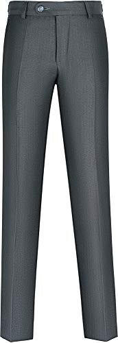 STENSER B46A Jungen Anzughose Schuluniform Elastische Taille, Grau, 146 R (Label 36/146)