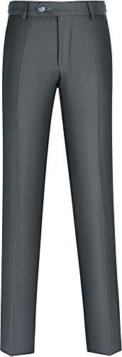 STENSER B46A Jungen Anzughose Schuluniform Elastische Taille, Grau, 134 GR (Label Size 34/134)