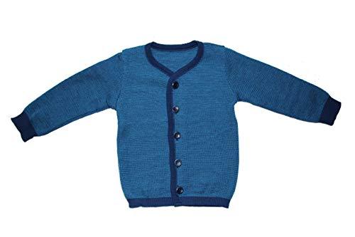 Disana Strickjacke Cardigan 100% Bio-Mernio-Schurwolle (Marine/blau, 134/140)