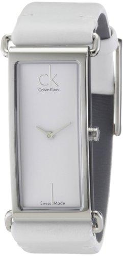 Calvin Klein Citified K0I23101 - Reloj de Mujer de Cuarzo, Correa de Piel Color Blanco